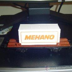 Trenes Escala: IBERTREN H0. VAGÓN CON CONTENEDOR DE MEHANO.. Lote 32556283