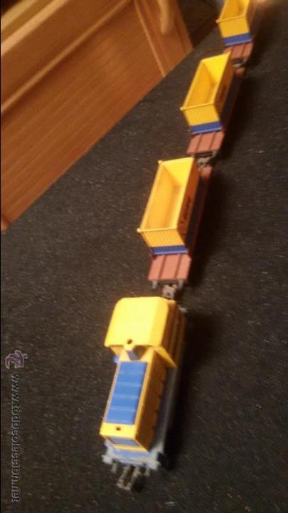 Trenes Escala: ANTIGUO TREN VAGONES Y MAQUINA LOCOMOTORA IBERTREN VAGON TRANS CONTAINER HO - Foto 6 - 155933513