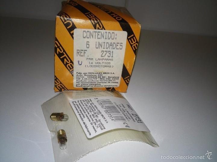 419- IBERTREN HO PAR LAMPARAS 14V LOCOMOTORAS PVP- UNIDAD NUEVO REF 2731 (Juguetes - Trenes a Escala - Ibertren H0)