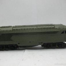 Trenes Escala: IBERTREN - TRANSFORMACIÓN ARTESANAL LOCOMOTORA DIESEL CON CORRIENTE CONTINUA - ESCALA H0. Lote 56605609
