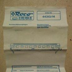 Trenes Escala: INSTRUCCIONES ROCO - VAGON PASAJEROS EUROFIMA - TRENES - REF. 44313/14 - ESCALA H0. Lote 76195319