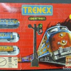 Trenes Escala: CAJA TRENEX IBERTREN 5050 PLÁSTICO Y HOJALATA AÑOS 80. Lote 89656504