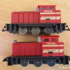 Trenes Escala: IBERTREN DOS TRACTORES TRANSCONTAINER ROJOS VER FOTOS . Lote 95067843