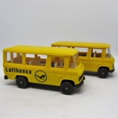 Trenes Escala: LOTE IBERTREN 2673 / 2638 FURGONES MERCEDES BENZ ESCALA HO. Lote 99342555