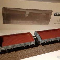 Trenes Escala: PAREJA DE VAGONES BORDES BAJOS. IBERTREN. REF.: 4503. ESCALA H0.. Lote 100873483