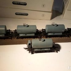 Trenes Escala: LOTE DE CINCO VAGONES CISTERNAS R.N.. IBERTREN. REF.: 4502 Y 45022. ESCALA H0.. Lote 100879543