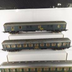 Trenes Escala: LOTE DE 3 VAGONES PASAJEROS Y FURGON RENFE BARCELONA-MADRID IBERTREN ESCALA H0. Lote 100916491