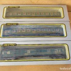 Trenes Escala: IBERTREN TRES VAGONES DE PASAJEROS FURGON 1ª Y 2ª VAN CON CAJA COMO NUEVOS . Lote 104319451