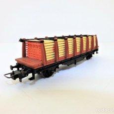 Trenes Escala: IBERTREN VAGÓN TELERO CARGA MADERA 2355 H0. Lote 110808607