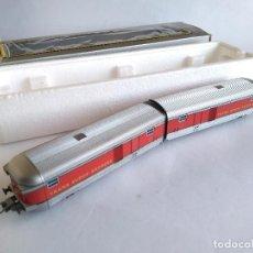 Trenes Escala: IBERTREN H0 PAREJA DE FURGONES DE COMPOSICIÓN TALGO . EN CAJA ORIGINAL. Lote 112876659