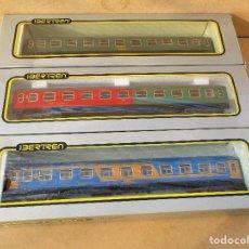 Trenes Escala: IBERTREN TRES VAGONES DE PASAJEROS , 2ª RENFE RESTAURANTE NUEVA IMAGEN Y RESTAURANTE DSG . Lote 113061755