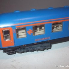 Trenes Escala: IBERTREN - ESCALA HO VAGON RESTAURANTE NUEVA IMAGEN COLOR NARANJA CON LUZ COMO NUEVO,BARATO. Lote 118656027