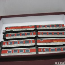 Trenes Escala: IBERTREN - LOTE DE 8 VAGONES TALGO RENFE TRANS EUROP EXPRESS - ESCALA H0. Lote 124422323