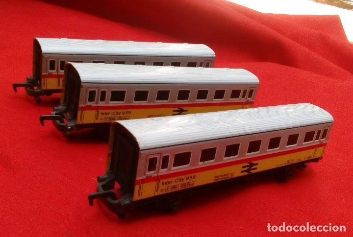 3 vagones de intercity-959 de hojalata - trenex de ibertren, usado segunda mano