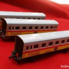 Trenes Escala: 3 VAGONES DE INTERCITY-959 DE HOJALATA - TRENEX DE IBERTREN. Lote 126357807