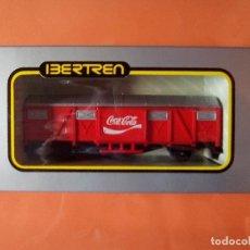 Trenes Escala: ANTIGUO VAGON IBERTREN MERCANCIAS CERRADO ESCALA HO COCA COLA COCACOLA. Lote 126714967