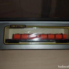 Trenes Escala: VAGON FORJAS DEL NORTE --MERCANCIAS TELERO 4 -EJES REF 2461 IBERTREN HO -NUEVO EN SU CAJA -MIDE 23. Lote 130560534