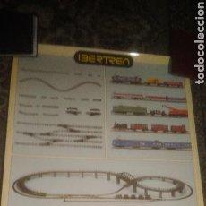 Trenes Escala: IBERTREN. CARTEL ORIGINAL.55 CTMS POR 40 CTMS. A ESTRENAR. Lote 132527911
