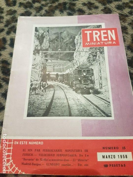 REVISTA TREN MINIATURA, AÑO 1958 (Juguetes - Trenes a Escala - Ibertren H0)