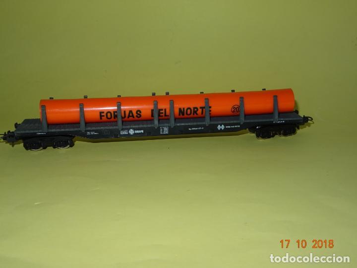 Antiguo Vagón Plataforma Teleros FORJAS DEL NORTE en Escala *H0* de IBERTREN, usado segunda mano