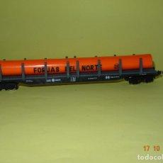 Trenes Escala: ANTIGUO VAGÓN PLATAFORMA TELEROS FORJAS DEL NORTE EN ESCALA *H0* DE IBERTREN. Lote 136642586