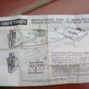 Trenes Escala: IBERTREN INSTRUCCIONES PARA DESVÍOS ELÉCTRICOS Y PUPITRE DE MANDOS. Lote 137732438