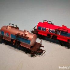 Trenes Escala: 2 VAGONES CISTERNA IBERTREN H0. Lote 139729382