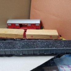 Trenes Escala: LOTE TRES VAGONES IBERTREN HO H0 USADOS. Lote 144615742