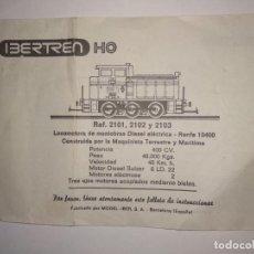 Züge Spur - Manual ibertren h0 referencia 2101 2102 y 2103 locomotora diésel - 150743378