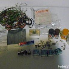 Trenes Escala: LOTE DE MATERIAL ELECTRONICO PARA CONSTRUIR MAQUETA, RELES ETC.. Lote 150840550