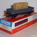 Trenes Escala: 0147-ELECTROTREN 1107 VAGON DE BORDES BAJOS R.N. CON CAJA CRISTAL H0 - 1/87. Lote 151662450