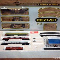Trenes Escala: IBERTREN 2011 - H0 - EN SU CAJA ORIGINAL - LOCOMOTORA + 3 VAGONES. Lote 158674190