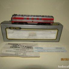 Trenes Escala: ANTIGUA LOCOMOTORA DIESEL 2000 TALGO EN ESCALA *H0* VIRGEN DEL CARMEN DE IBERTREN. Lote 183257673