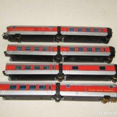 Trenes Escala: ANTIGUA COMPOSICIÓN COMPLETA DEL TALGO VIRGEN DEL CARMEN EN ESCALA *H0* DE IBERTREN. Lote 177963257