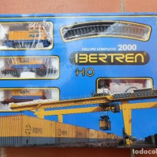 Trenes Escala: CAJA IBERTREN HO. EQUIPO COMPLETO 2000. CON LOCOMOTORA DIESEL MANIOBRAS, 2 VAGONES PLATAFORMA.... Lote 180967685