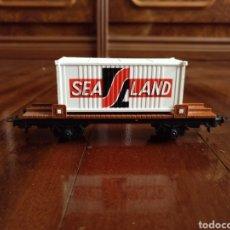 Trenes Escala: VAGÓN SEA LAND IBERTREN ESCALA H0. Lote 182567402