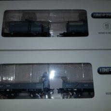 Trenes Escala: IBERTREN HO 2 PAREJAS DE CISTERNAS Y VAGONES BORDES BAJOS. Lote 182988692