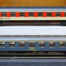 Trenes Escala: IBERTREN H0 2 COCHES DE VIAJEROS RENFE REFERENCIA 2202 Y SBB CFF FFS REFERENCIA 2220.. Lote 183506993