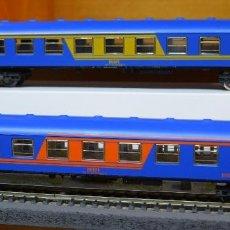 Trenes Escala: IBERTREN H0 2 COCHES DE VIAJEROS RENFE, REFERENCIAS 2213 Y 2215.. Lote 183508272