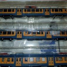 Trenes Escala: IBERTREN HO UT600 RENFE AMARILLO AZUL REF.4602 DIGITAL SONIDO. Lote 185903146