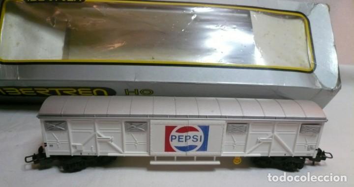 Trenes Escala: VAGON IBERTREN H0 REF. 2476 PEPSI-COLA y tres vias rectas - Foto 8 - 189102172