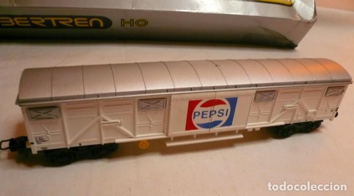 Trenes Escala: VAGON IBERTREN H0 REF. 2476 PEPSI-COLA y tres vias rectas - Foto 11 - 189102172