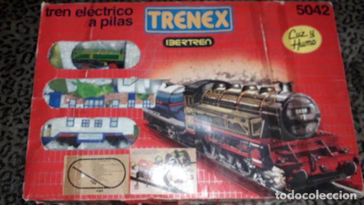 IBERTREN TRENEX REF. 5042 VAPOR CON LUZ Y HUMO, TREN ANTIGUO, JUGUETE ANTIGUO (Juguetes - Trenes a Escala - Ibertren H0)