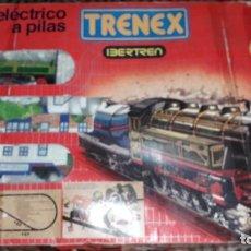 Trenes Escala: IBERTREN TRENEX REF. 5042 VAPOR CON LUZ Y HUMO, TREN ANTIGUO, JUGUETE ANTIGUO. Lote 189220753
