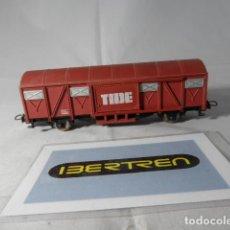Trenes Escala: VAGÓN CERRADO TIDE ESCALA HO DE IBERTREN. Lote 191372957