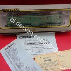 Trenes Escala: LOCOMOTORA ELECTRICA ALSTHOM RENFE REF: 2110. CON CAJA OROGINAL Y DOCUMENTACION. IBERTREN HO. Lote 191989766