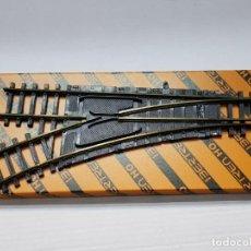 Trenes Escala: IBERTREN H0 CAMBIO DE VIAS MANUAL DERECHO EN BLISTER ORIGINAL . Lote 194991997