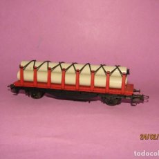 Trenes Escala: ANTIGUO VAGÓN CON 3 TUBOS ESC. *H0* REF 2357 DE IBERTREN MADE IN SPAIN 1980S. Lote 195184790