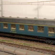 Trenes Escala: CONJUNTO 3 VAGONES PASAJEROS IBERTREN COLOR AZUL H0 RENFE. Lote 196890638