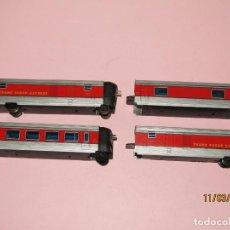 Trenes Escala: ANTIGUA COMPOSICIÓN DEL TALGO VIRGEN DEL CARMEN 4 UNIDADES EN ESCALA *H0* DE IBERTREN. Lote 196971952